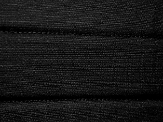 Midnight Black - Striped Material