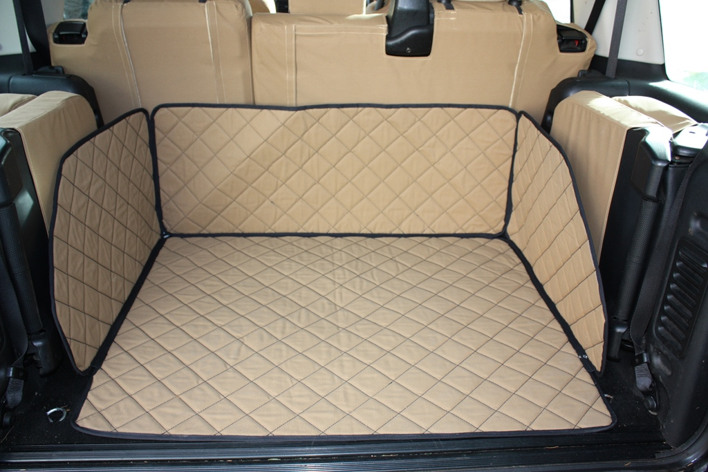 Boot Liner / Dog Bed - Desert Sand - Chequered Pattern