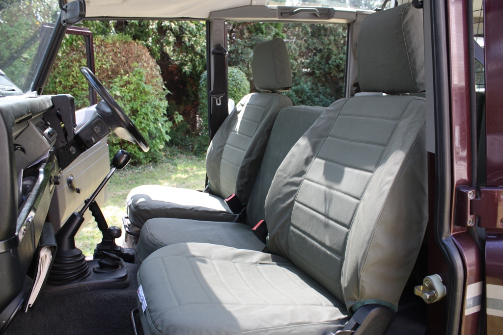 Front Seat Set - Nato Green - Striped Pattern Defender (Post 2007)
