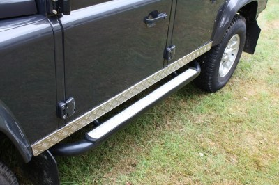 Land Rover Defender - Aluminium Chequer Plate Door Sill Protection