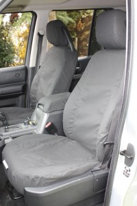 Front Seat Covers - Midnight Black - Plain Pattern - Discovery 3
